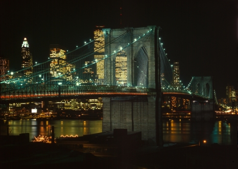 Was it the whisky that made everything look surreal on Brooklyn Bridge?