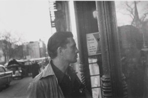 My hero Jack Kerouac in NY 1953 - about to enter a record store, of course!